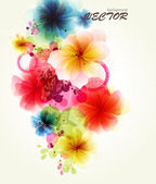 Abstraction floral background — Stock Vector