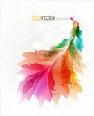 Colorful floral abstract background — Stock Vector
