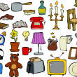 Stock Vector: Household items