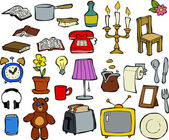 Household items — Stock Vector
