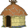 Stock Vector: Native hut