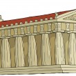 Stock Vector: Parthenon