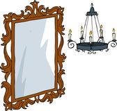 Miroir et lustre — Vecteur