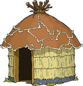 Native hut — Vector de stock