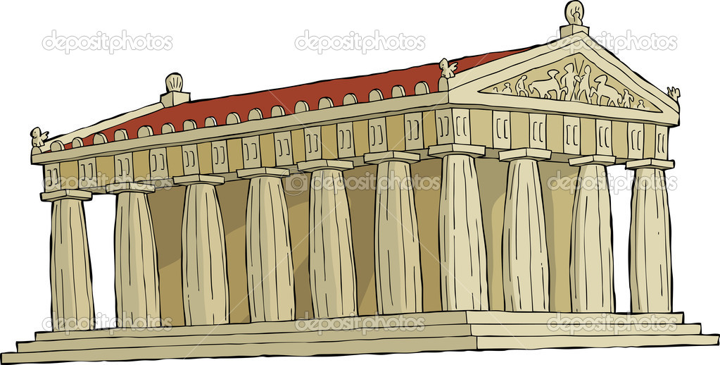 The Parthenon on a white background vector illustration — Stock Vector #12227265