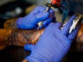 Tattoo on arm — Stock Photo