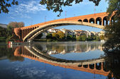 Brick bridge — Foto Stock