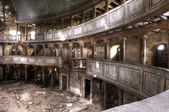 Ruins of the theatre building hdr — Stock Photo