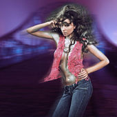 Ung sexig dansande kvinna — Stockfoto