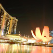 Singapore Marina bay sand night view — Stock Photo