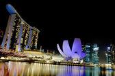 Singapore Marina bay sand night view — Stock Photo