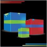 Vector 3D modern composition/background — Stock Vector #10744230
