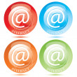 Vector internet E-Mail Button / symbol set — Stock Vector