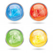 Vector color business button/symbol set — Stock Vector