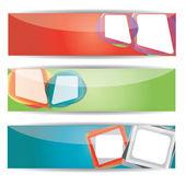 Wektor koloru tkanina transparent zestaw — Wektor stockowy