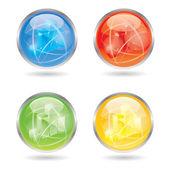 Vector color business button/symbol set — Stockvector