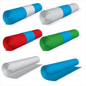 Vector Sheet Rolls set — Stok Vektör