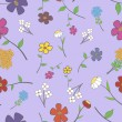 Royalty-Free Stock Vector Image: Lilac Floral Seamless