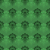 Background - Emerald Flowers — Stock Vector
