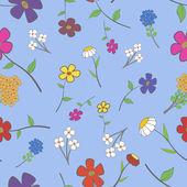 Cian floral transparente — Vector de stock