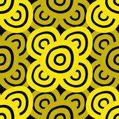 背景 - 黒 & 黄色 — Stock vektor