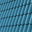 Blue Metal Tile - Stock Photo