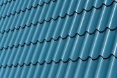 Blue Metal Tile — Stock Photo