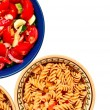 Salad and Pasta — Stock Photo