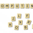 Scrabble: cloud computing — Stock Photo