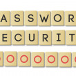 Scrabble: password security — Stock Photo