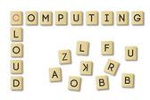 Scrabble: cloud computing — Stock Photo