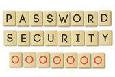 Scrabble: password security — Stock Photo