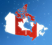 Canada in the sky — Stock Photo