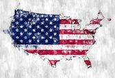 Brush Painted USA Map — Stock Photo