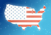 USA in the sky — Stock Photo