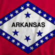 Stock Photo: Flag of Arkansas, USA