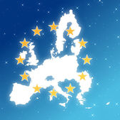 Europe in the sky — Stock Photo