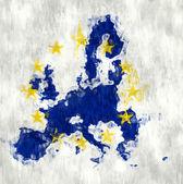 Brush Painted Europe Map — Stock Photo