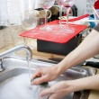 Постер, плакат: Cleaning Dishes