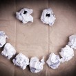 Smiley Face Paper Balls — Stock Photo