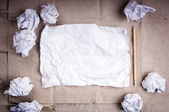 Crumpled Paper Background — Stock Photo