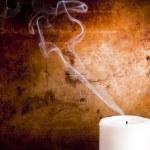 Candle Smoke Trails — Stock Photo