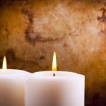 Белые свечи — Стоковое фото