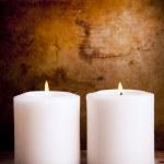 witte kaarsen — Stockfoto