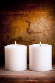 White Candles — Stock Photo