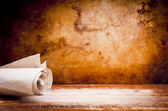 Old Parchment Paper Scroll — Stock Photo