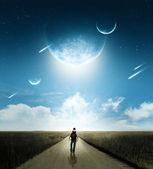 Camminare con le comete — Foto Stock