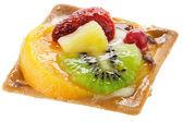 Fruit Cake over white — Stock Photo