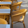 Stock Photo: Street view of a coffee terrace