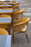 Street view of a coffee terrace — 图库照片